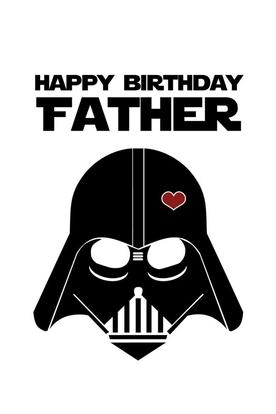 Star wars funny birthday card for dad diy printable bookmarktalkfo Images
