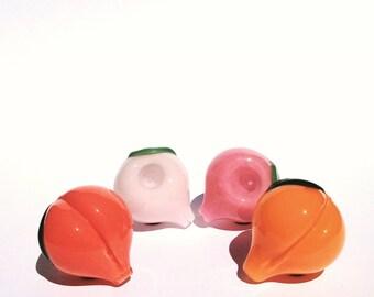 Peach Glass Pipe, Glass Smoking Pipe