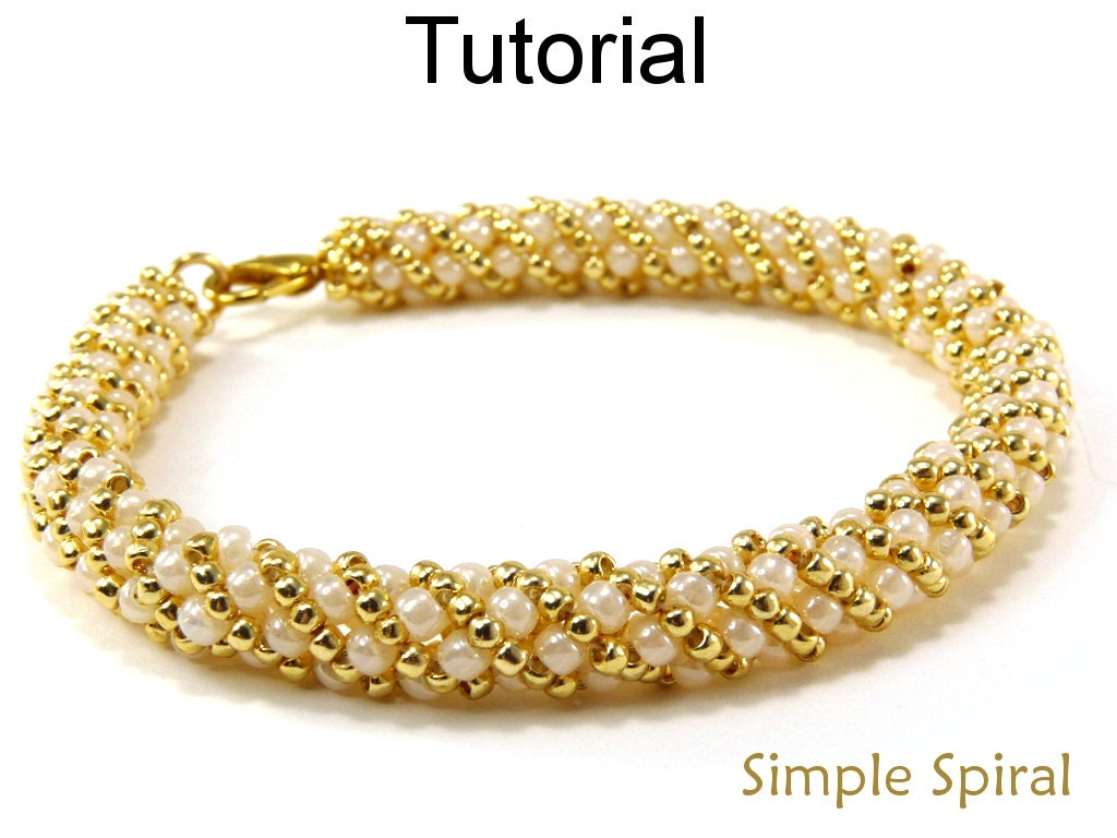 Russian Spiral Stitch Beading Pattern Jewelry Making