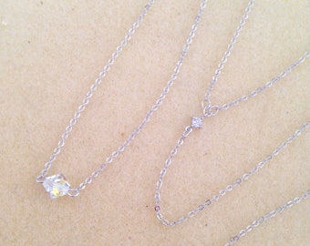 Back Drop Bridal Necklace, Crystal Bridal Backdrop Necklace, Wedding Y-Drop Back Necklace, Bridal Wedding Jewelry