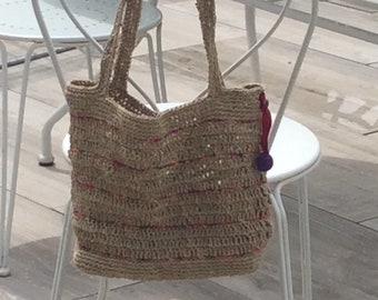 Hemp twine tote bag