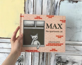 Vintage Children's Picture Book Max The Apartment Cat By Mauro Magellan Hardcover 1989