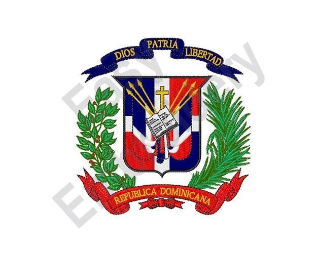 Dominican Republic Coat Of Arms Machine Embroidery Design
