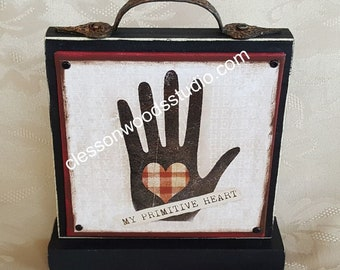 My Primitive Heart Canvas Block of the Month SET