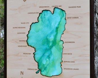 Lake Tahoe Wood Map