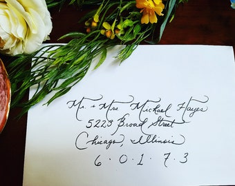 Wedding and Special Occasion Calligraphy
