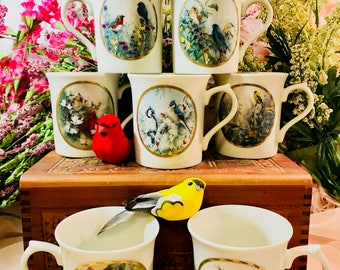 Lenox Limited Edition Nature's Collage Mug Collection From 1994 - Birds - Bird Lover Birder Orni Bird Watcher