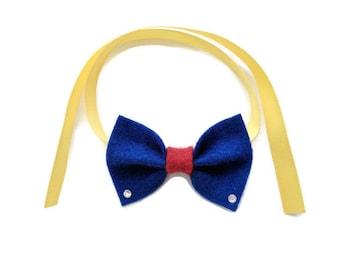 Blue bow tie for guinea pigs, pet hedgehog bow tie, pet guinea pig bow, pet guinea pig accessories, pet hedgehog costume, pet bunny bow