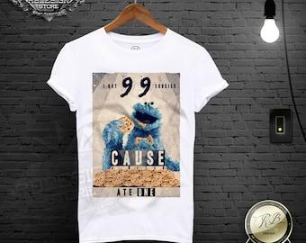 Mens Cookie Monster T shirt / Funny Mens T-shirt / Mens Funny shirt Mens Funny Tee Shirt Funny Cookie Monster Shirt Cookie Monste Tee MD436