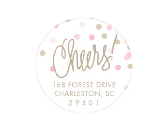 Cheers Stickers (pinks) - Personalized!