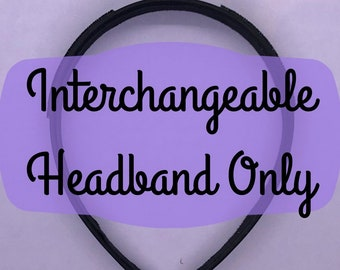 Interchangeable Headband Only for Interchangeable Mouse Ears | Headband Ears | Minnie Ears | 3D Printed | land | world