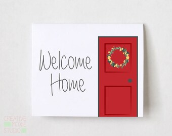 Welcome Home Card - Housewarming Gift - Housewarming Card - Moving Card - Travel Card - New House Card - Housewarming Party - Home Congrats