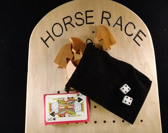 large Maple Horse Race Game