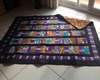 African Print Quilt 'Ashanti Kings'