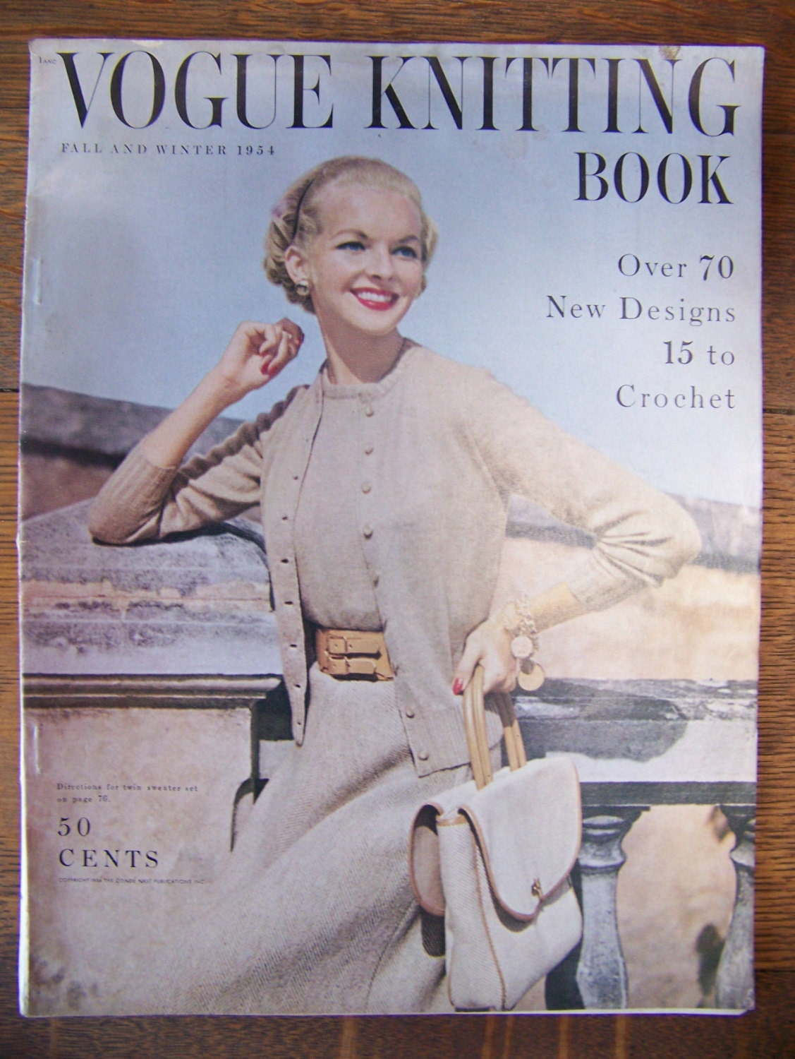 Vintage Vogue Knitting Book 1954 Fall and Winter.Vintage 1950\'s ...