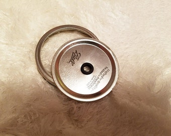 Wide Mouth Mason Jar Lid/Lid W. Hole For Mason Jars/Wide Mouth Mason Jar/Lid For Mason Jar Wide Mouth/Mason Jar/Gift/Birthday Gift/Christmas
