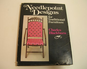 Needlepoint Designs For Traditional Furniture Vintage Book