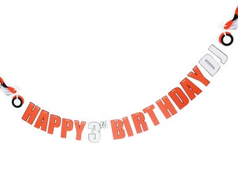 Motorcycle Birthday Banner - Motorcycle Party - Happy Birthday Banner - Boy Birthday Banner - Motorcycle Sign - Bike Birthday