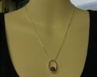 Amethyst Necklace - 8mm Amethyst GemBall with Sterling Silver - February Birthstone Necklace