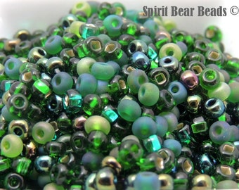 Emerald Isle Czech Glass seed bead Mix size 6/0 50 Grams St Paticks Day