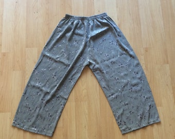 Hand-made silken pants