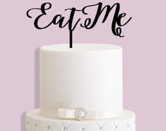 Eat Me Alice in Wonderland Cake Topper
