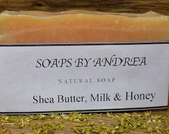 Shea Butter Coconut Milk Honey Handmade Bar Soap Coconut Oil. Olive Oil.  Mother Gift Ideas Natural. Body Soap. Bath Soap. Gifts Under 10