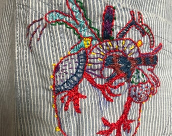 Embroidered Colored Heart