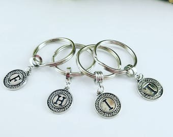 Letters Keychain / F Letter keychain / H Letter Keychains / I Letter KeyChain / T letter Keychain / Gift For Her / Mother Gift Keychain