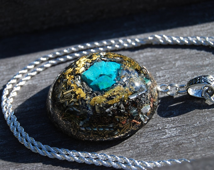 Orgonite® Orgone Pendant LARGE Necklace Chrysocolla