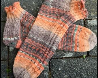 Sommer Sneaker Socken handgestrickt Gr. 38/39