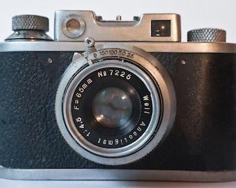 Very rare Well Standard Model I Japanese rangefinder camera