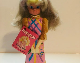 Vintage 1987 lady lovely locks doll bubble bath with original tags, never been used