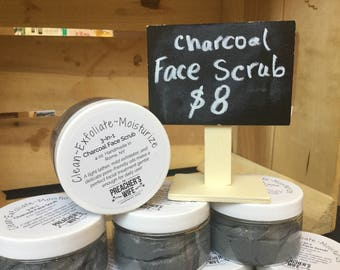 3-in-1 Charcoal Face Scrub, Cleanser, & Moisturizer