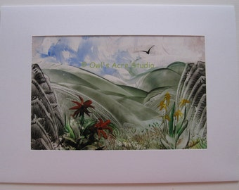 Encaustic Greetings Card - Landscape 001