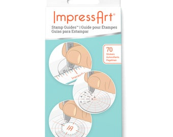 ImpressArt Stamping Guides for Metal Stamping DIY Jewelry Projects, Jewelry Making Tools & Supplies (MEA011)