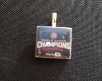 Chicago Cubs World Series Champions Tile Charm