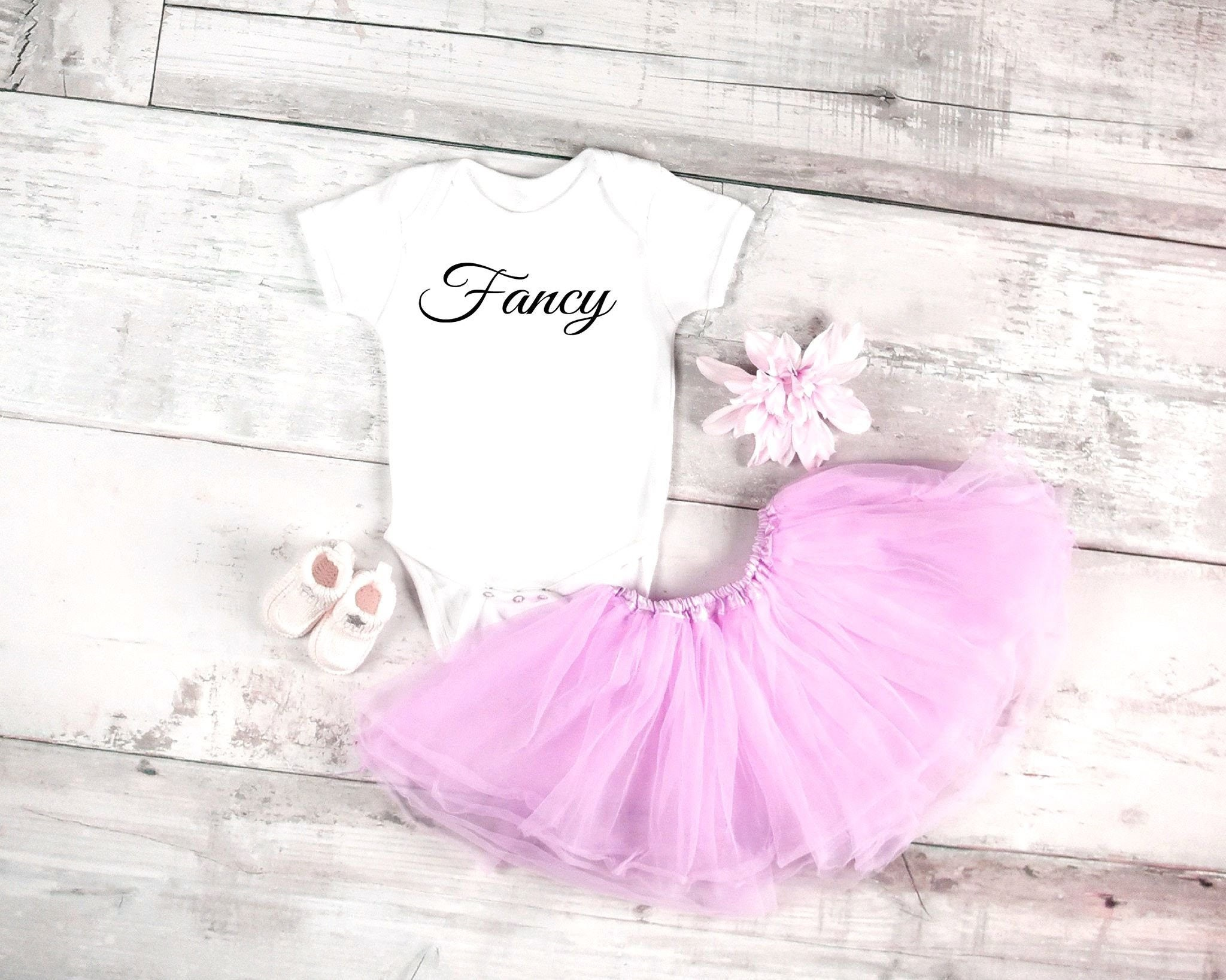 Fancy baby onesie for newborn and baby girls 6 months 12