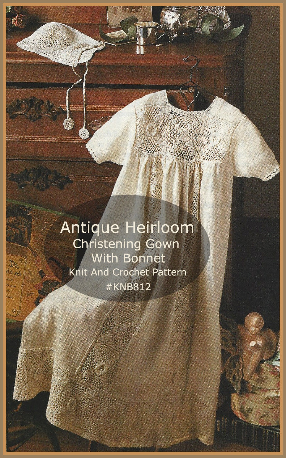 RARE Heirloom Christening Gown Knit And CrochetBeautiful