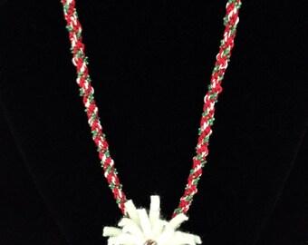 Christmas Kumihimo Necklace