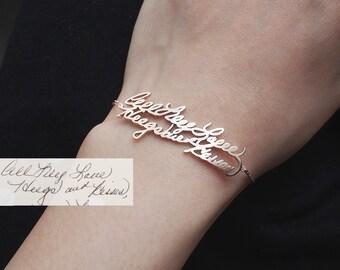 Custom Handwriting Bracelet / Personalized Handwriting Bracelet / Name bracelet / Memorial jewelry - HB03
