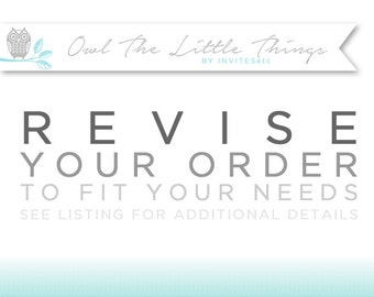 Add-on Customization - Revise any order to fit your needs