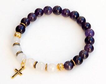cross bracelet, religious bracelet, christian bracelet, spiritual bracelet, christian jewelry, religious jewelry, catholic jewelry, faith