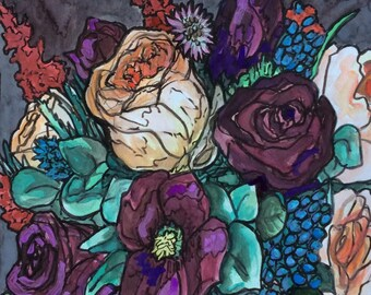 Original watercolor painting 34/100