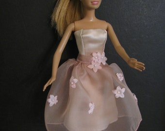 Barbie doll clothes-pink silk