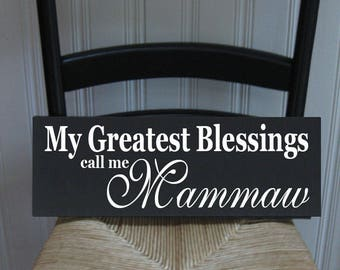 Grandmother Greatest Blessing call me Grandparent Customize Personalize  Handpainted Wood Sign 16 x 5.5