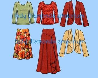 Simplicity 1761 Womens Full Figure Skirt Top Jacket size 20W 22W 24W 26W 28W Bust 42 44 46 48 50 Khaliah Ali Sewing Pattern Uncut