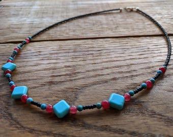 Black Multi Gemstone necklace