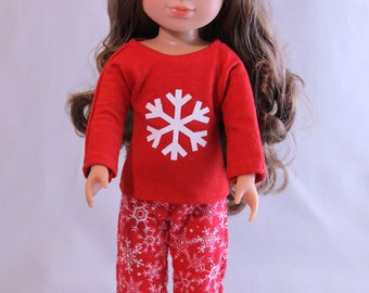 Winter Pajamas for your 14 1/2 inch doll