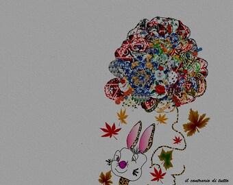 FRANK BUNNY print, portrait, illustration, art, wall design